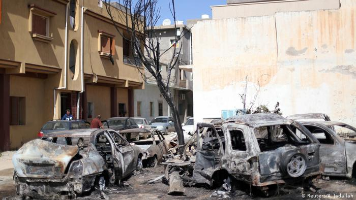 Libye: Destruction à Tripoli (Reuters / A. Jadallah)