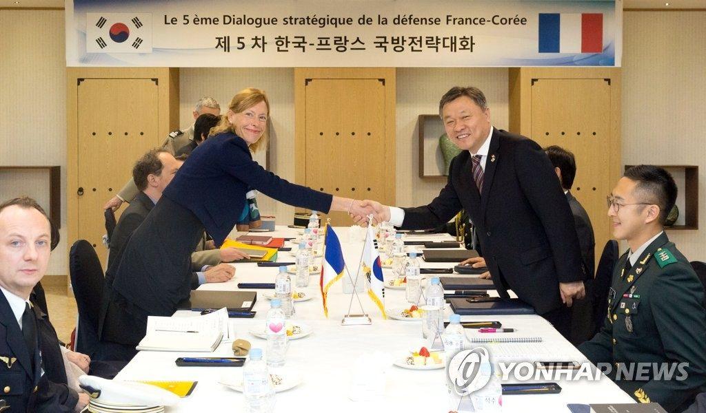 La Corée du Sud et la France acceptent de renforcer la coopération en matière de défense