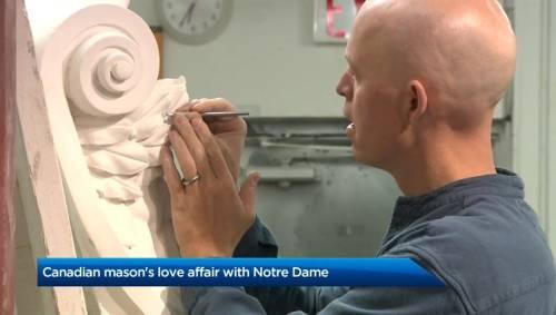 Une histoire d'amour entre un maçon canadien et la cathédrale Notre-Dame de France | Visionnez les nouvelles vidéos en ligne - Globalnews.ca