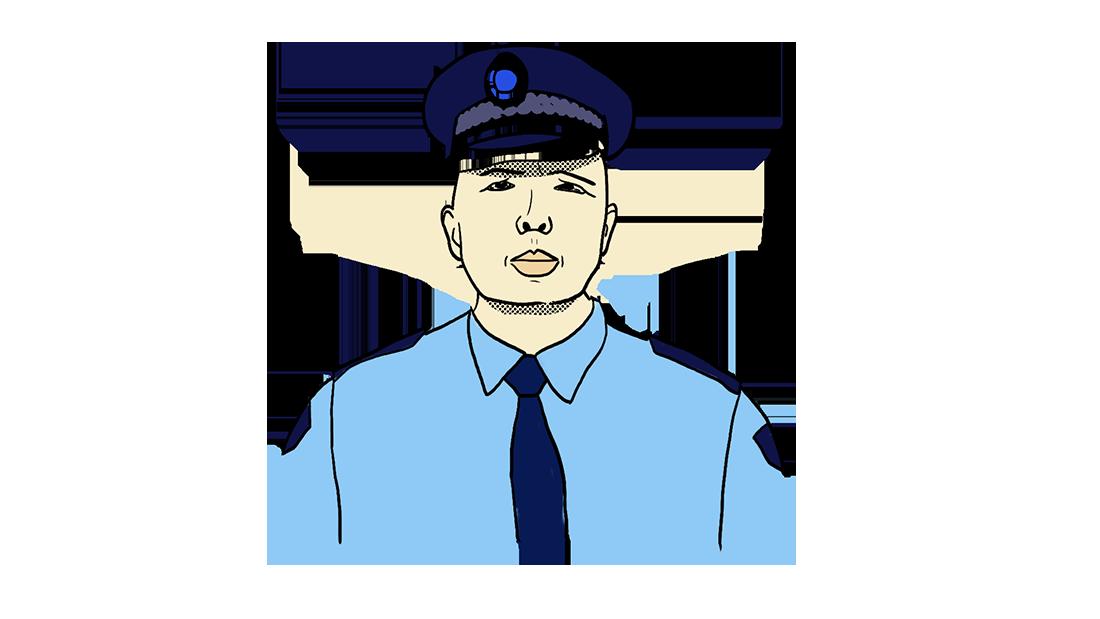 Une illustration de Peter Dutton en uniforme de police