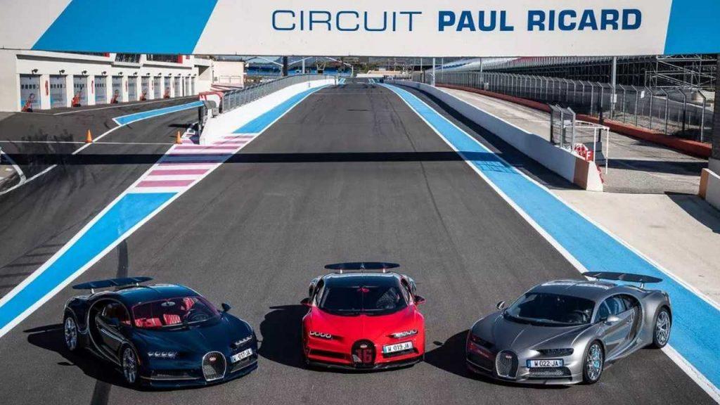 Bugatti Chiron et Chiron Sport en piste en France