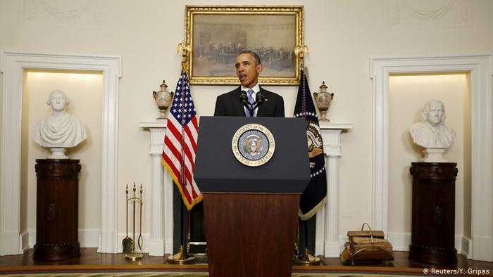 Etats-Unis Barack Obama PK Iran Nuklear Deal (Reuters / Y. Gripas)
