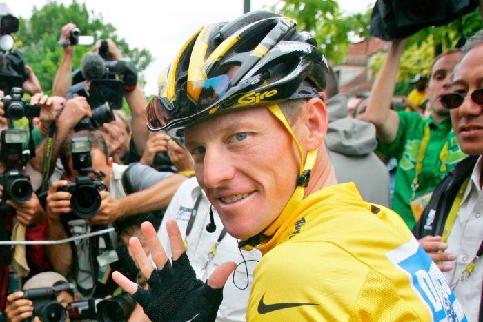 Lance Armstrong pendant le Tour de France