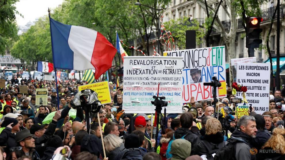 Après les affrontements du 1er mai, les manifestations pour la «veste jaune» en France sont moins nombreuses