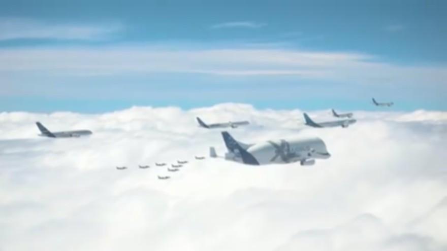 Des images aériennes d'Airbus montrent une formation de vol spectaculaire au-dessus de la France | 1 NOUVELLES MAINTENANT