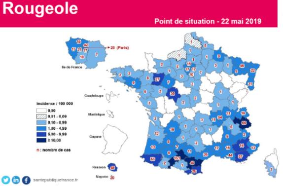 France: Mise à jour sur la rougeole, ténia du poisson en Ille-et-Vilaine