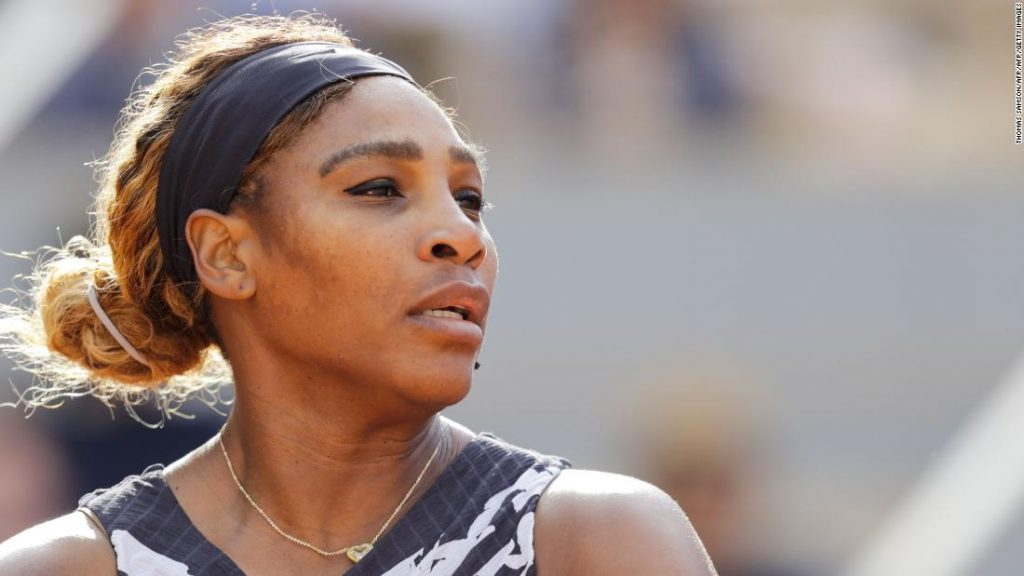 Serena Williams won her opening French Open match against Vitalia Diatchenko in three sets on Monday while donning a new outfit.