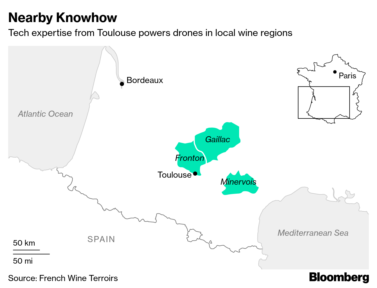 drone france bloomberg
