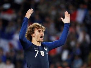 Antoine Griezmann célèbre le pointage pour la France le 2 juin 2019