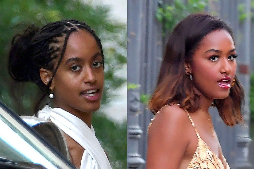 Malia and Sasha Obama, france