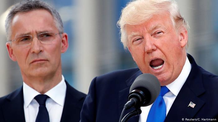 Le président américain Donald Trump et le secrétaire général de l'OTAN, Jens Stoltenberg (Reuters / C. Hartmann)