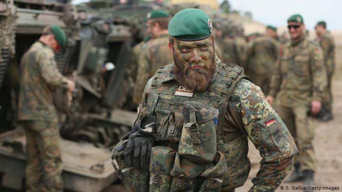 Soldat allemand participant à des exercices militaires pour la VJTF (S. Gallup / Getty Images)
