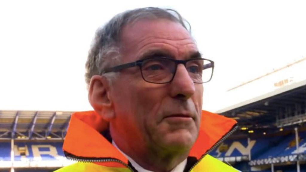 Clive died whilst out walking in France. Pic: Everton FC