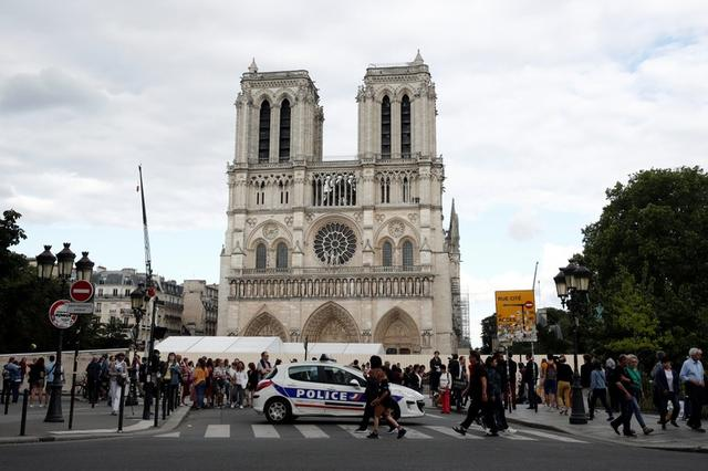The Notre-Dame de Paris cathedral is pictured after the first mass since the devastating fire in April, in Paris, France, June 15, 2019. (REUTERS / MANILA BULLETIN)
