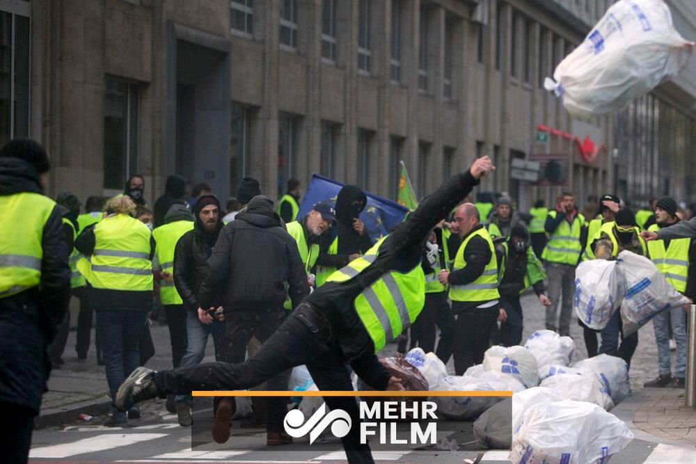 VIDÉO: 34ème week-end de protestation du gilet jaune français