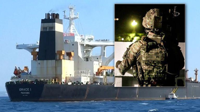 Le navire a été abordé par les Royal Marines et les autorités de Gibraltar