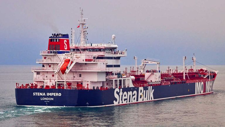 Les gardiens de la révolution iraniens ont déclaré à la télévision publique qu'ils avaient saisi le Stena Impero. Fichier pic: Stena Bulk
