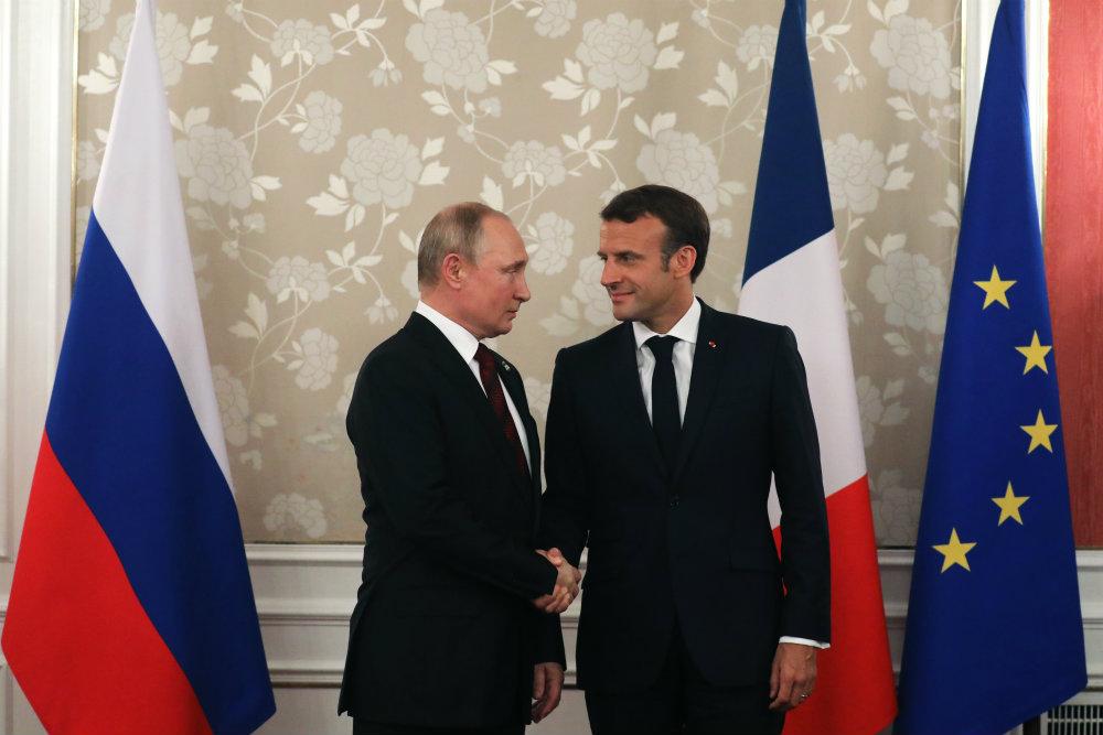 Le Français Macron accueillera Poutine avant le sommet du G7