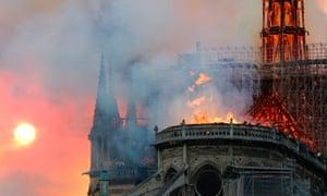 L'incendie de Notre Dame le 15 avril 2019