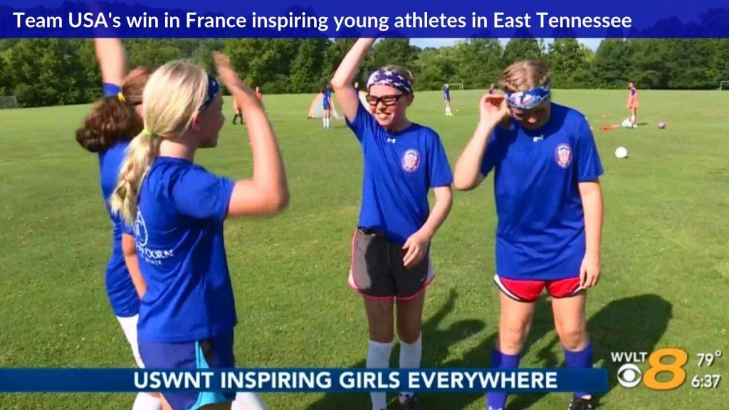 La victoire de l'équipe américaine en France inspire les jeunes athlètes de l'est du Tennessee