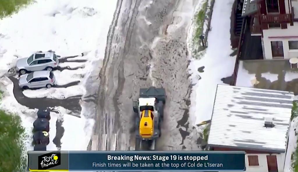 """Le Tour de France annule une étape très attendue au milieu de """"conditions météorologiques extrêmes"""""""