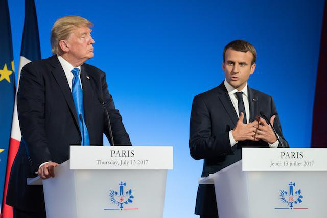 "The French parliament approved a levy on the sales of large internet firms. France's president, Emmanuel Macron, has two weeks to sign the bill. Donald Trump ordered an inquiry into whether or not the measure ""unfairly targets American companies."" Library picture: Donald Trump and Emmanuel Macron are seen during a press conference at the Élysée Palace in Paris, 13 July 2017. Photo: Shutterstock.com"